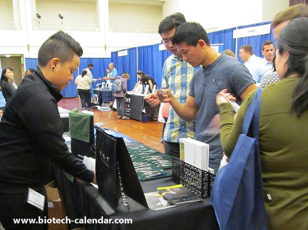 Fine Science Tools Display at University of California, San Diego Biotechnology Vendor Showcase™ Event