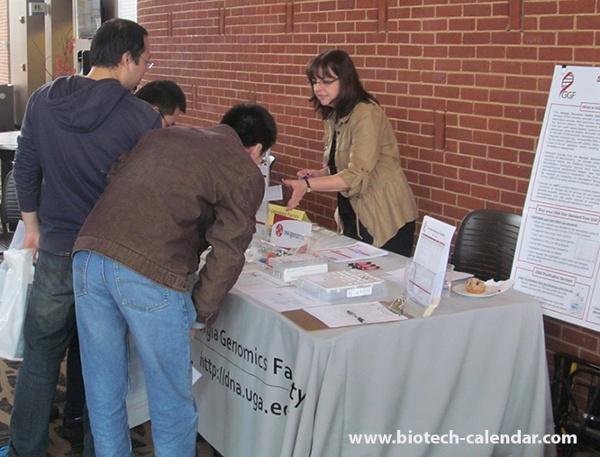 Scientist Explores Lab Supplies at University of Georgia, Athens BioResearch Product Faire™ Event
