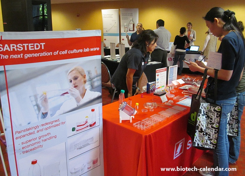 Sarstedt, Inc. Lab Equipment Display at University of California, Davis Medical Center BioResearch Product Faire™ Event