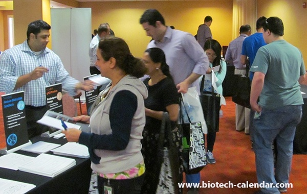 Scientist Examines Lab Supplies at University of California, Davis Medical Center BioResearch Product Faire™ Event
