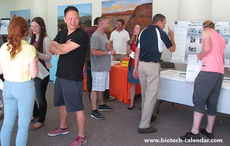 Happy Scientist Enjoys University of Nevada, Reno BioResearch Product Faire™ Event
