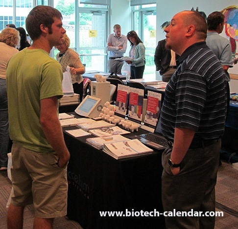 Researchers and vendors discuss current science event topics and technologies at University of Wisconsin BioResearch Product Faire™ event