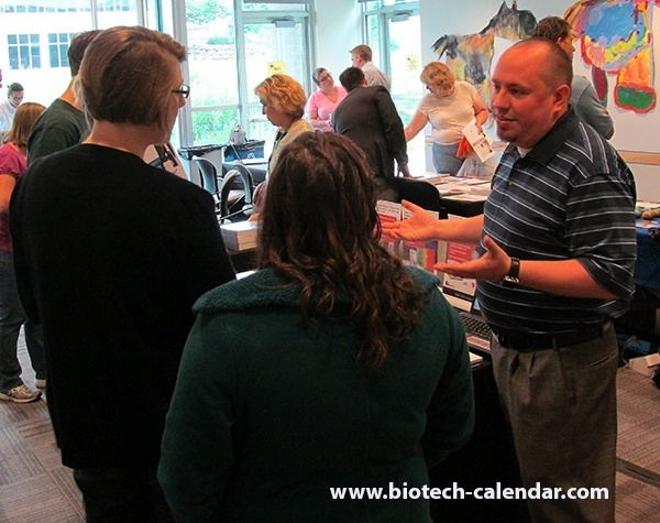 Scientists learn about new information and lab services at University of Wisconsin BioResearch Product Faire™ event