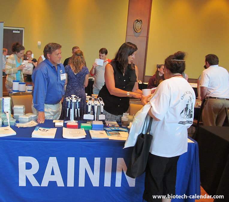 Rainin Instruments show to interested lab scientists at BCI science fair University of Wisconsin Research Park BioResearch Product Faire™ Event