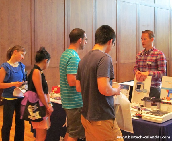 Life science researchers view lab equipment and supplies at University of Wisconsin Research Park BioResearch Product Faire™ Event